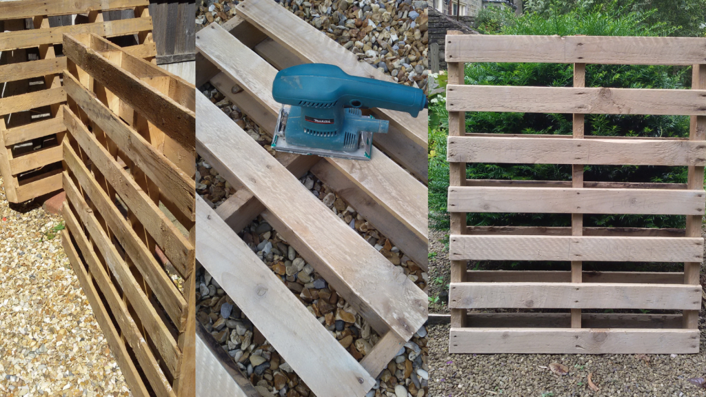 Choose, dry and sand down your pallet